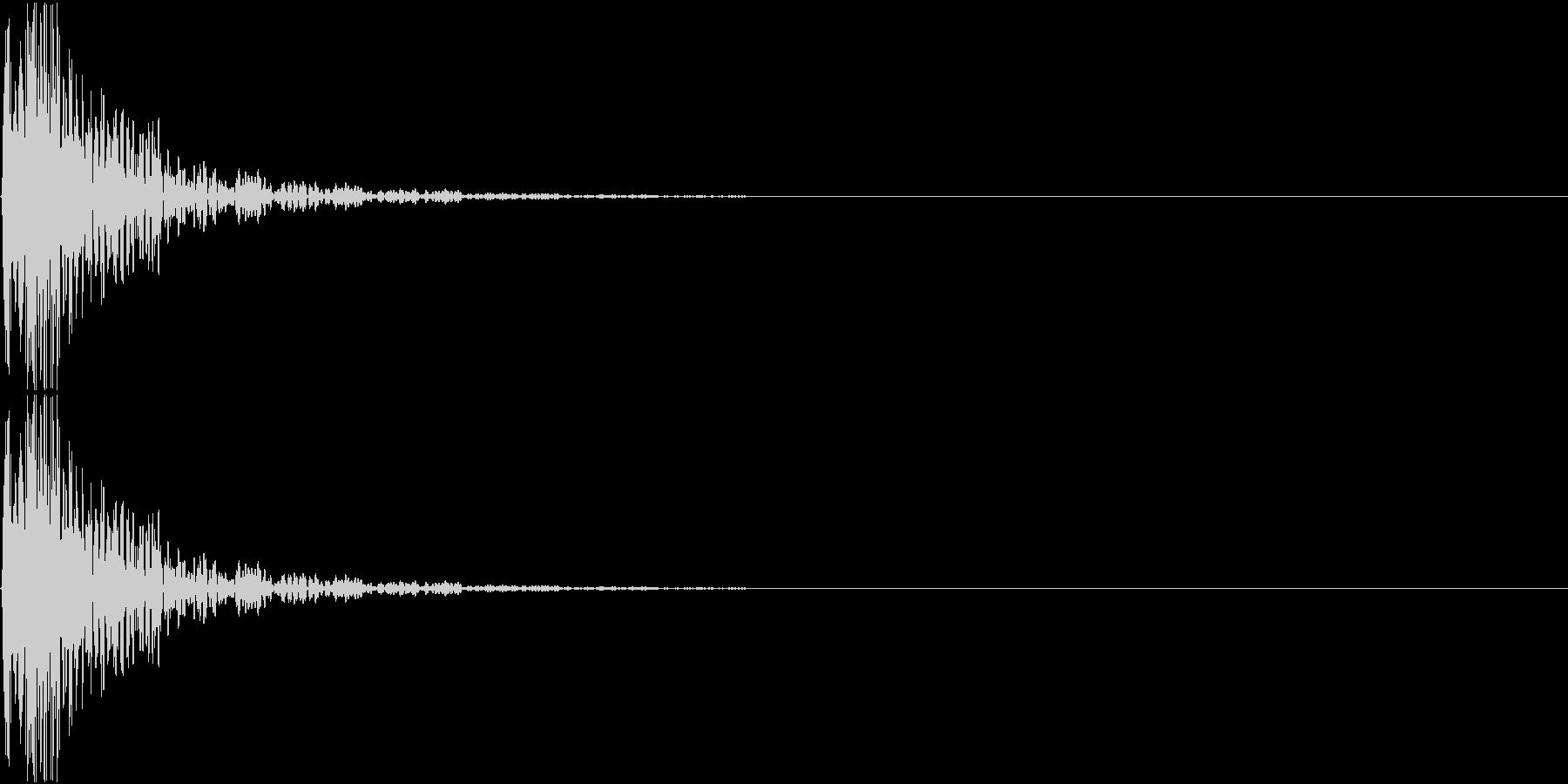 [[ドドン!]] 和太鼓の音 2発 速めの未再生の波形