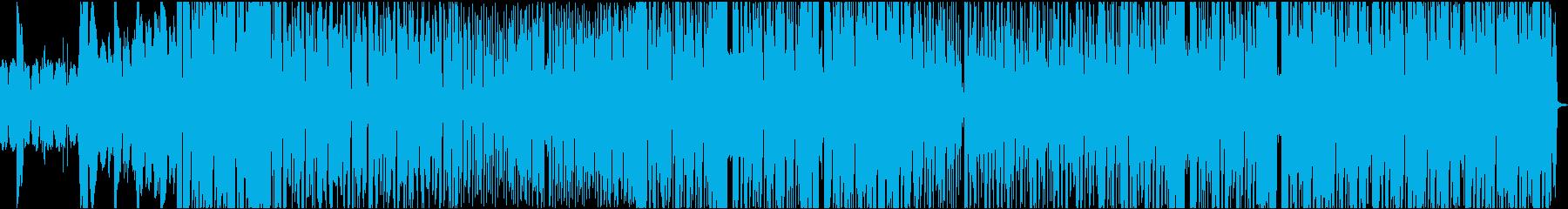 暖かくて暗めのEDMの再生済みの波形