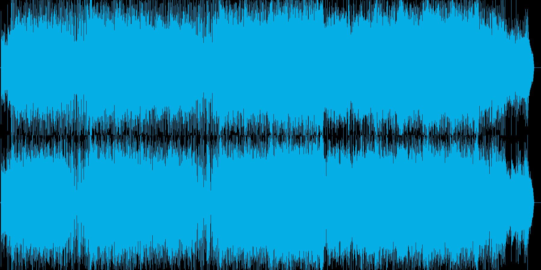 爽やかで疾走感あるいきいきポップロックの再生済みの波形