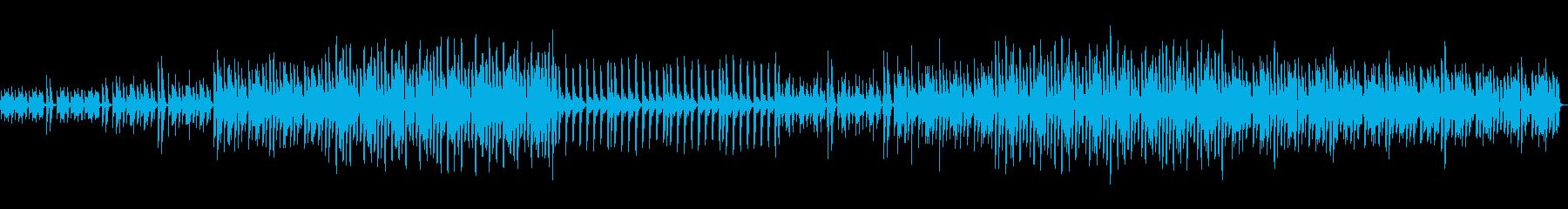可愛い不思議な変速ビートの電子ピアノの曲の再生済みの波形