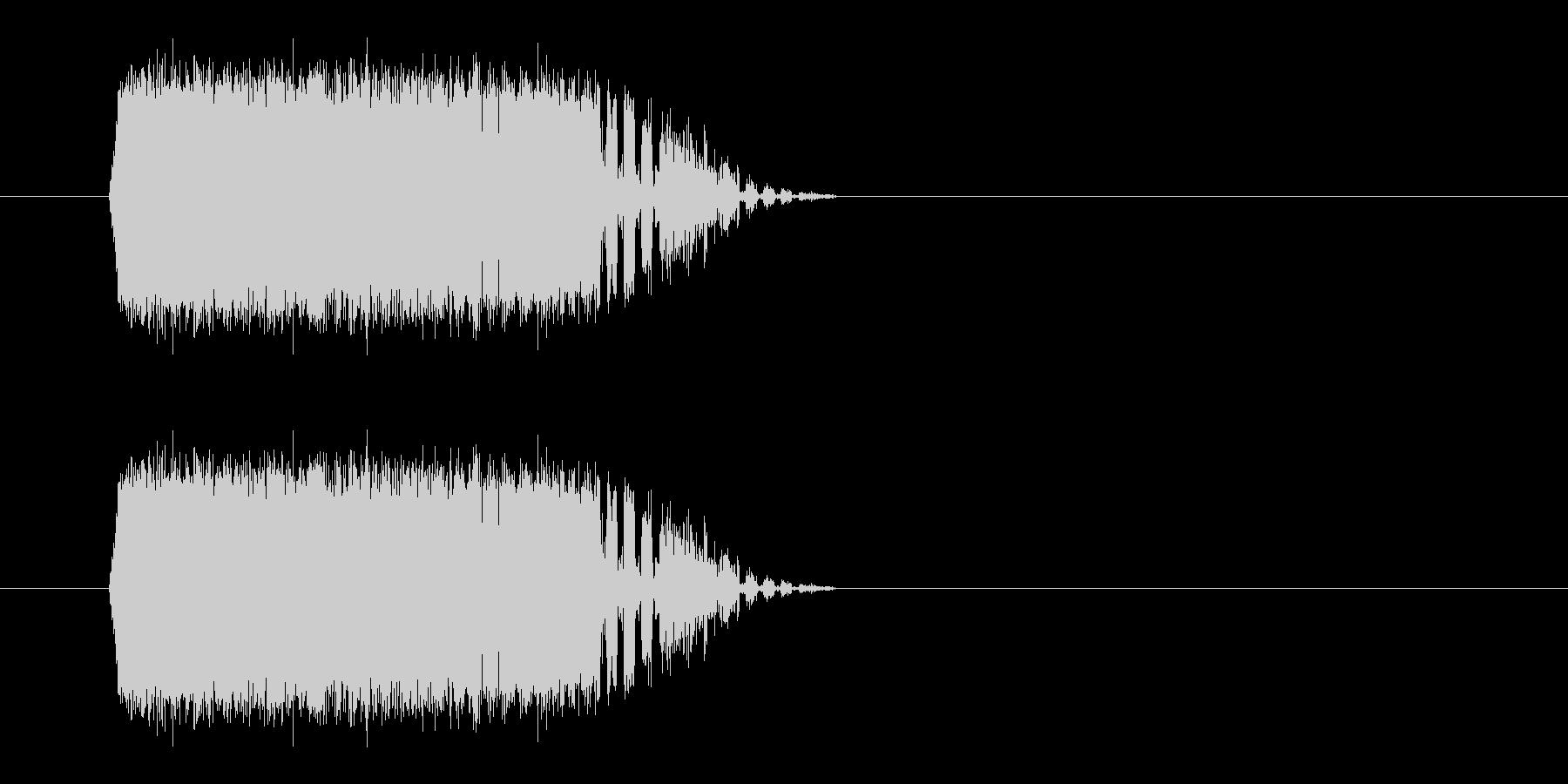 電気/ビリッ/感電の未再生の波形