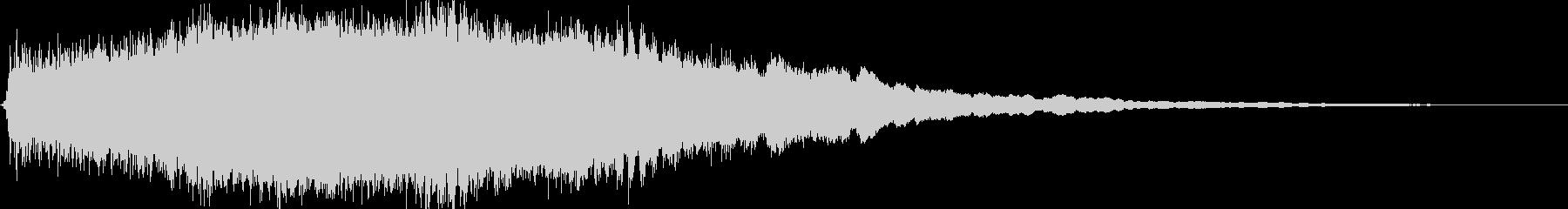 レトロ起動ジャーン/分厚い和音ME11の未再生の波形