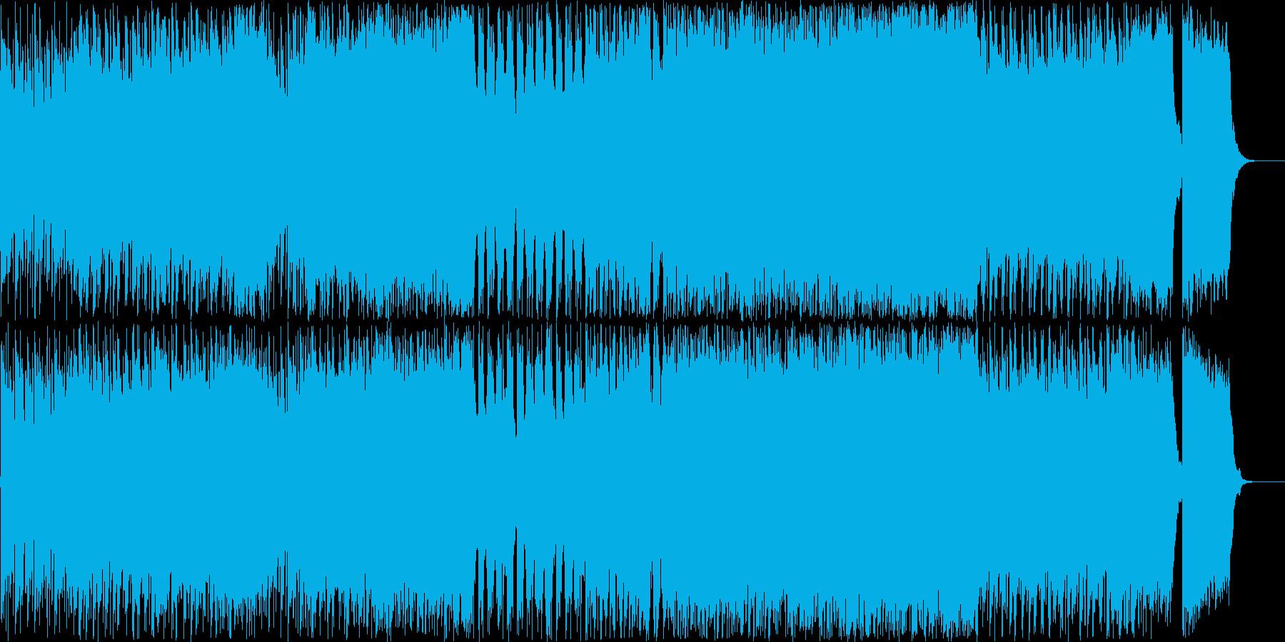 明るく優雅なメロディのメタルの再生済みの波形