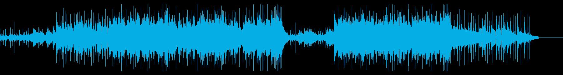 決然とした切なさのある楽曲の再生済みの波形