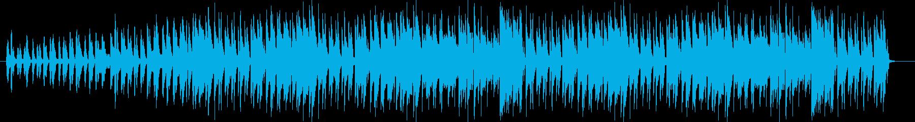 軽快なファンタジー音楽の再生済みの波形
