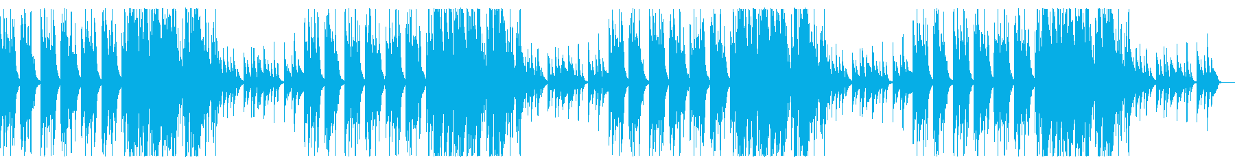 クラシックギターによる悲しい旋律の再生済みの波形