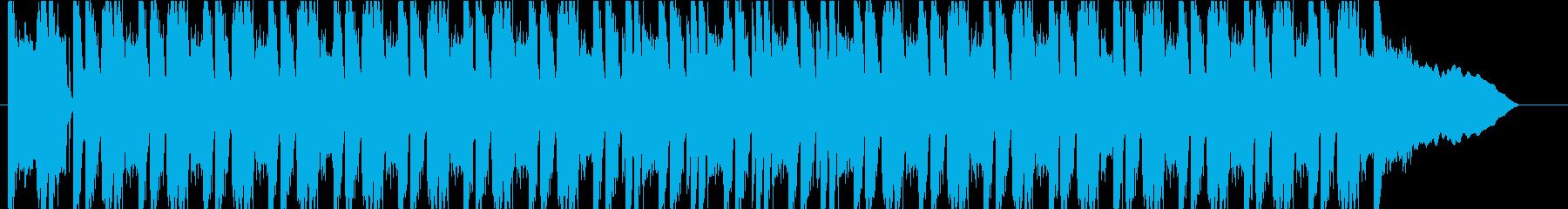 かっこいいエレキギターのロックの再生済みの波形