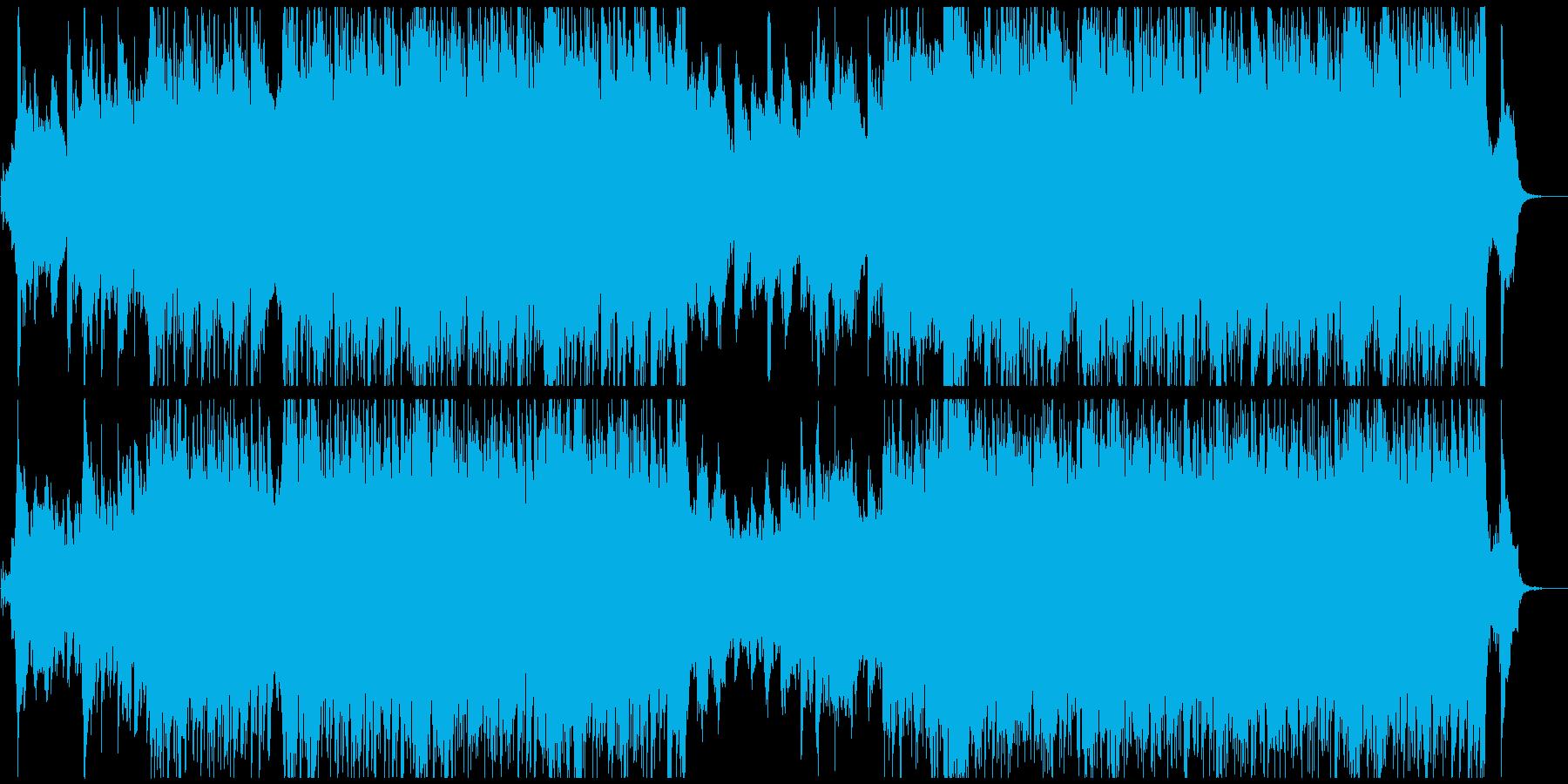 シネマティックな雄大で美しい曲の再生済みの波形