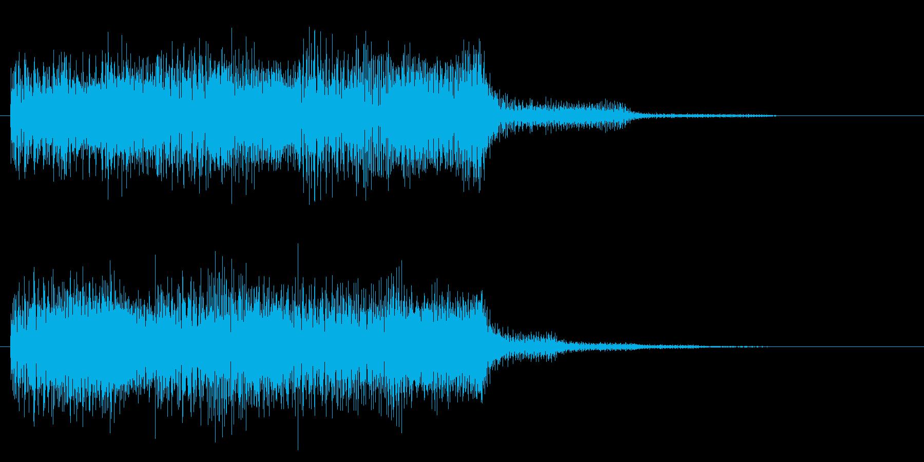 クリア 目標達成 正解 到達 タララの再生済みの波形
