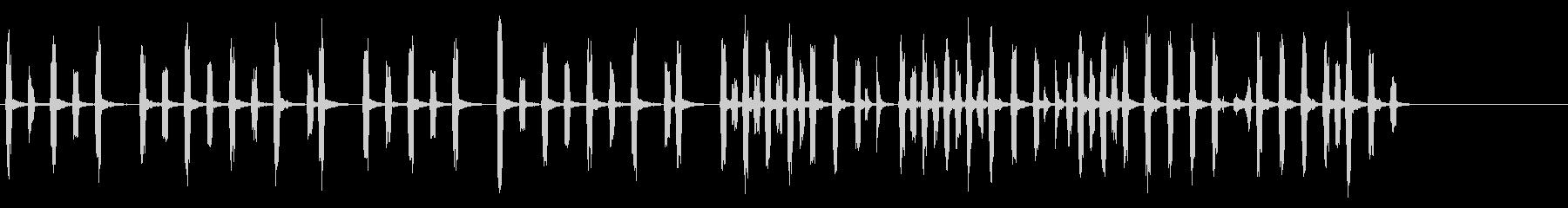 素朴で可愛い鍵盤ハーモニカの和やかな音楽の未再生の波形
