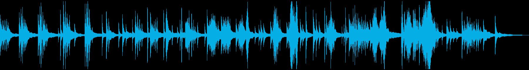 映像・ナレーション用ピアノ演奏(夢)の再生済みの波形