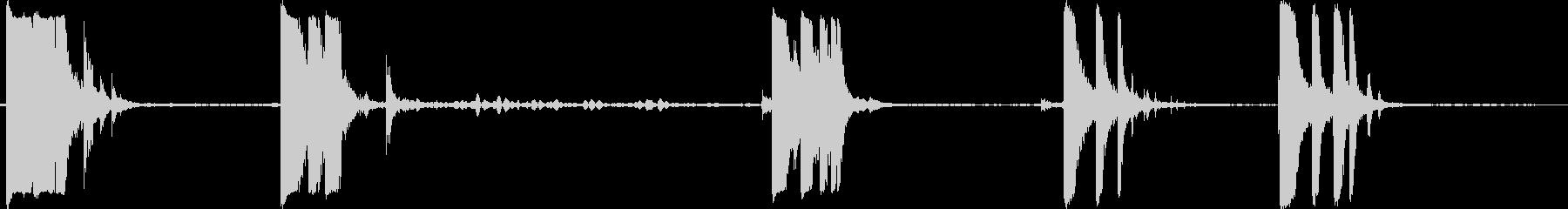 メタルドロップラージバーの未再生の波形