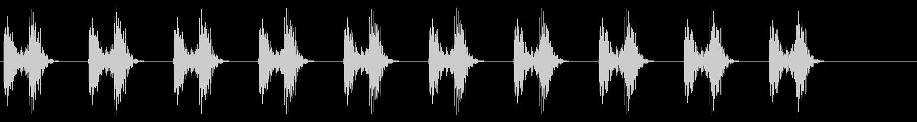 心音、心臓の鼓動_1-2の未再生の波形