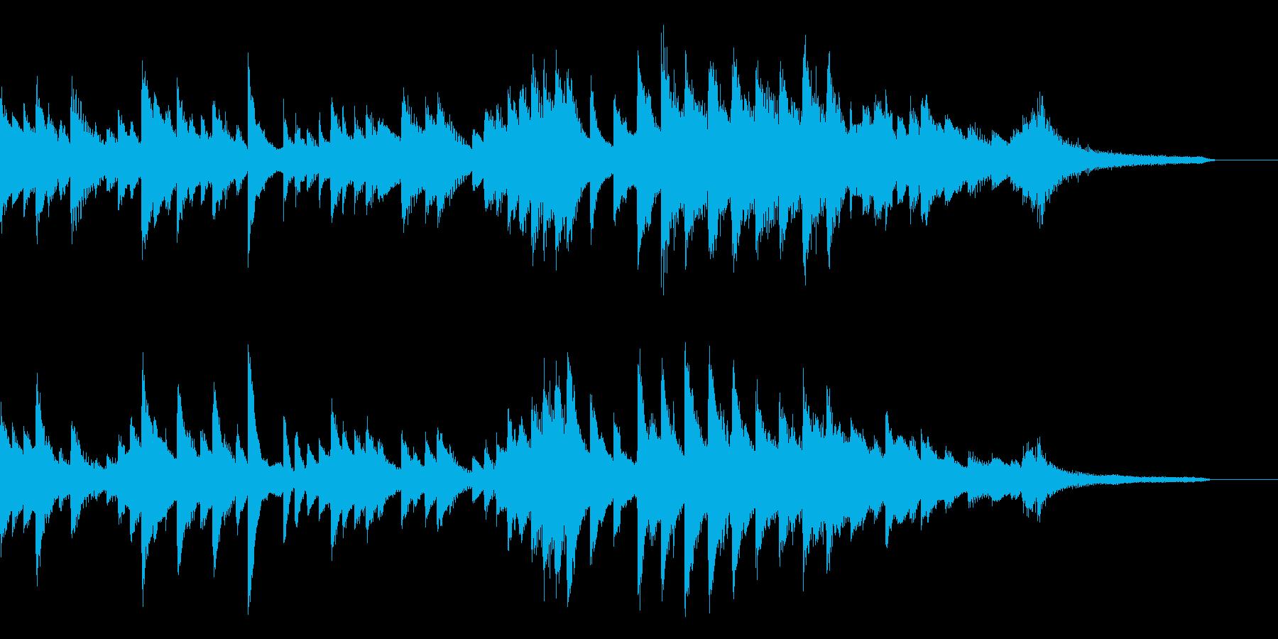 悲しいほど美しい日本の夏のピアノジングルの再生済みの波形