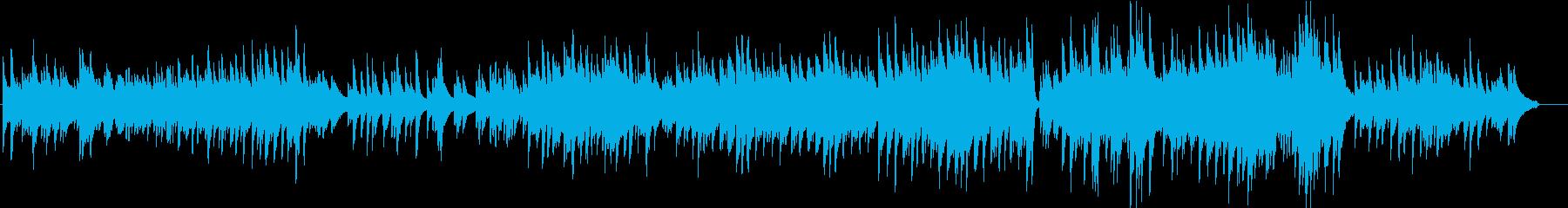 梅雨の訪れをイメージしたピアノ曲の再生済みの波形