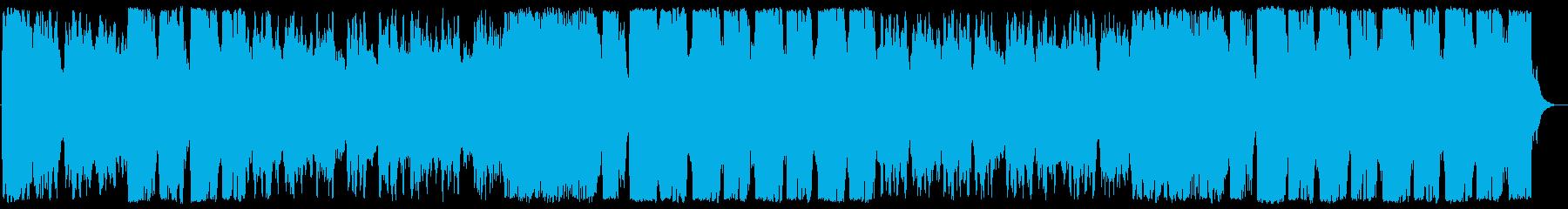 中華風の軽快なBGMの再生済みの波形