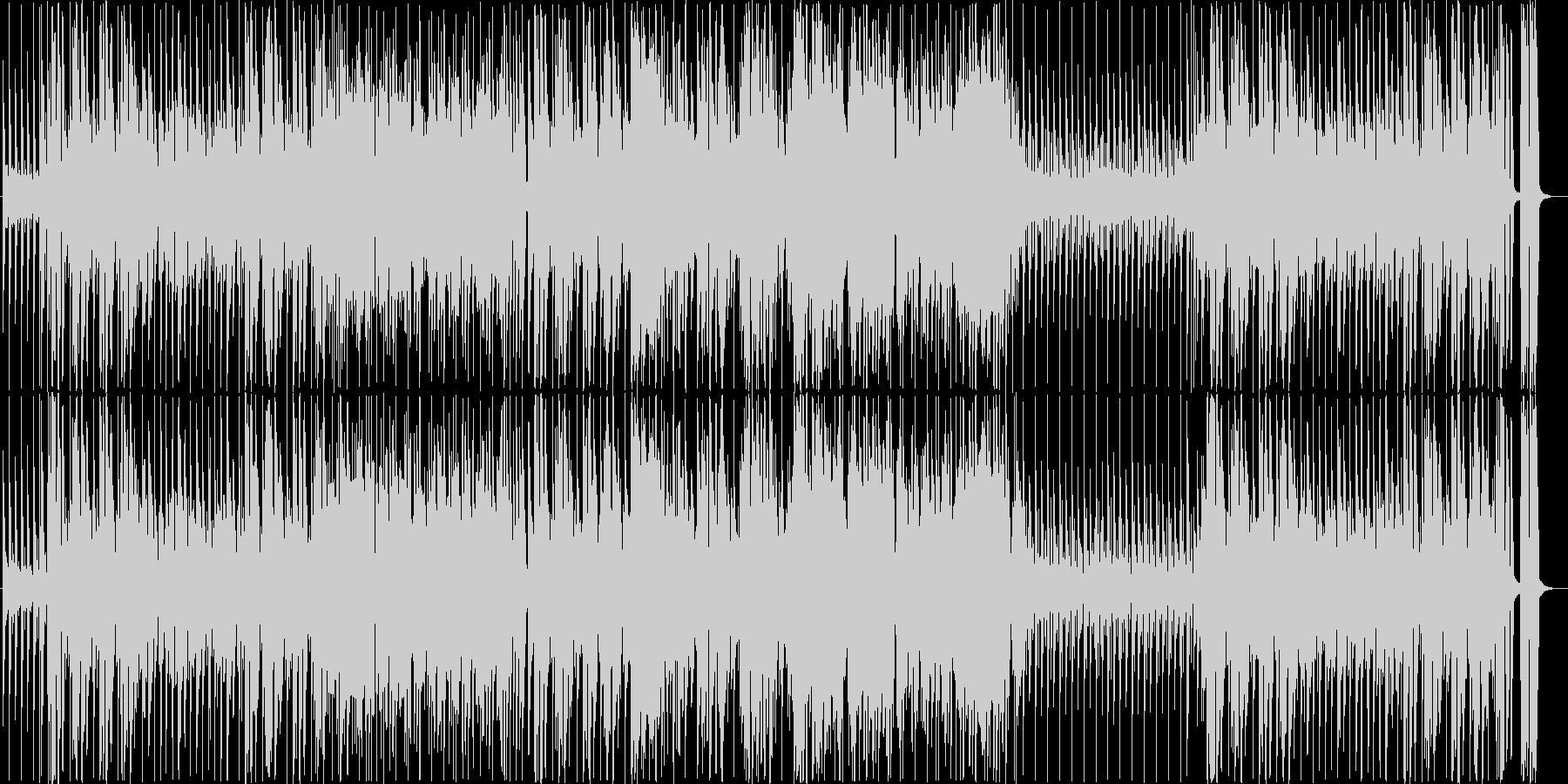 明るくファンキーなホーンセクションの未再生の波形