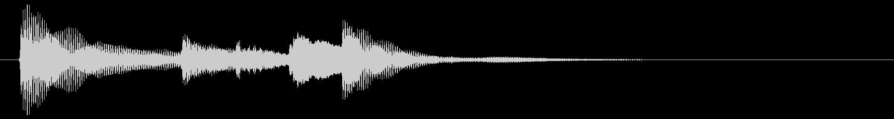 なにかを達成した時に使える音です。の未再生の波形