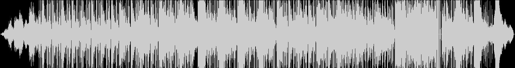 オシャレなギターが特徴的なファンク曲の未再生の波形