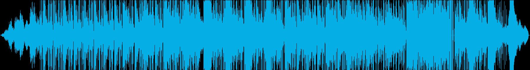 オシャレなギターが特徴的なファンク曲の再生済みの波形