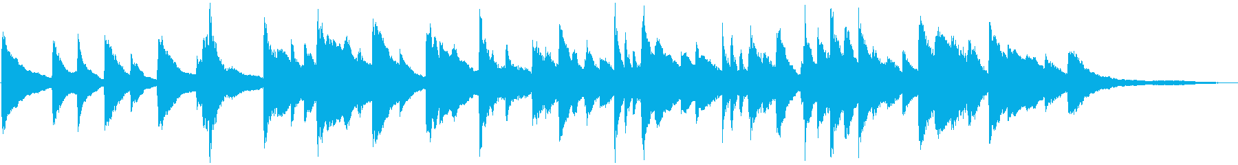 youtube感動映像に切ないピアノソロの再生済みの波形