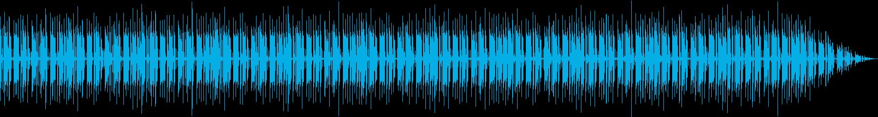 パーカッションとベースのセッションの再生済みの波形
