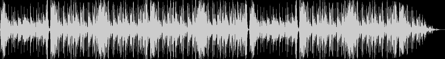 ゆったりとした優しいエレクトロBGMの未再生の波形