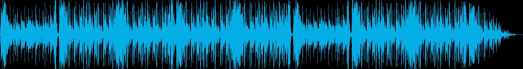 ゆったりとした優しいエレクトロBGMの再生済みの波形