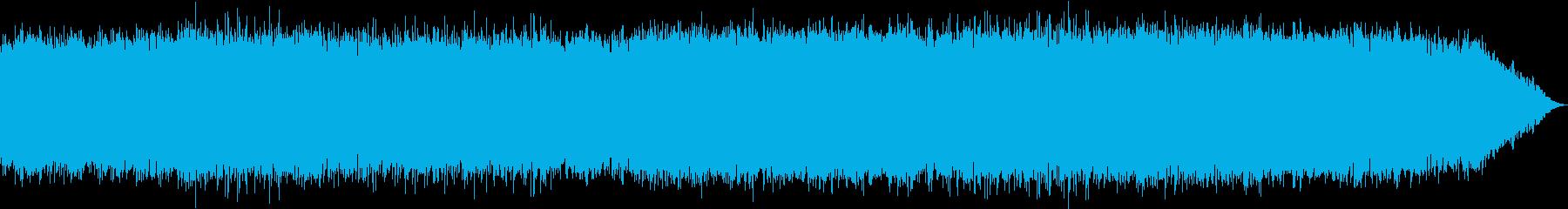 ドラムのキックが心地いいテクノ音楽の再生済みの波形