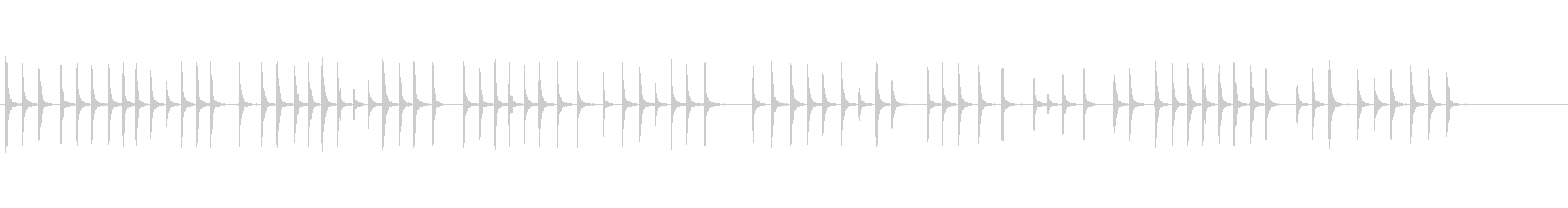 板金のハンマーの未再生の波形