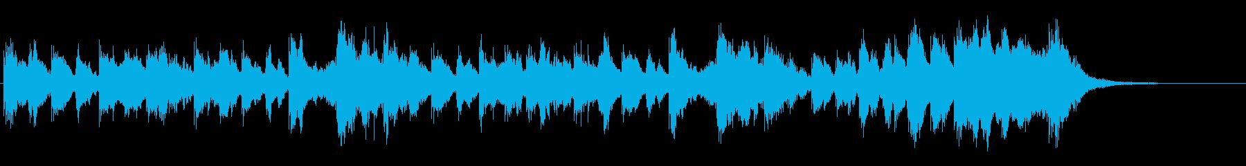 クイズ考え中!明るくコミカルなジングルの再生済みの波形