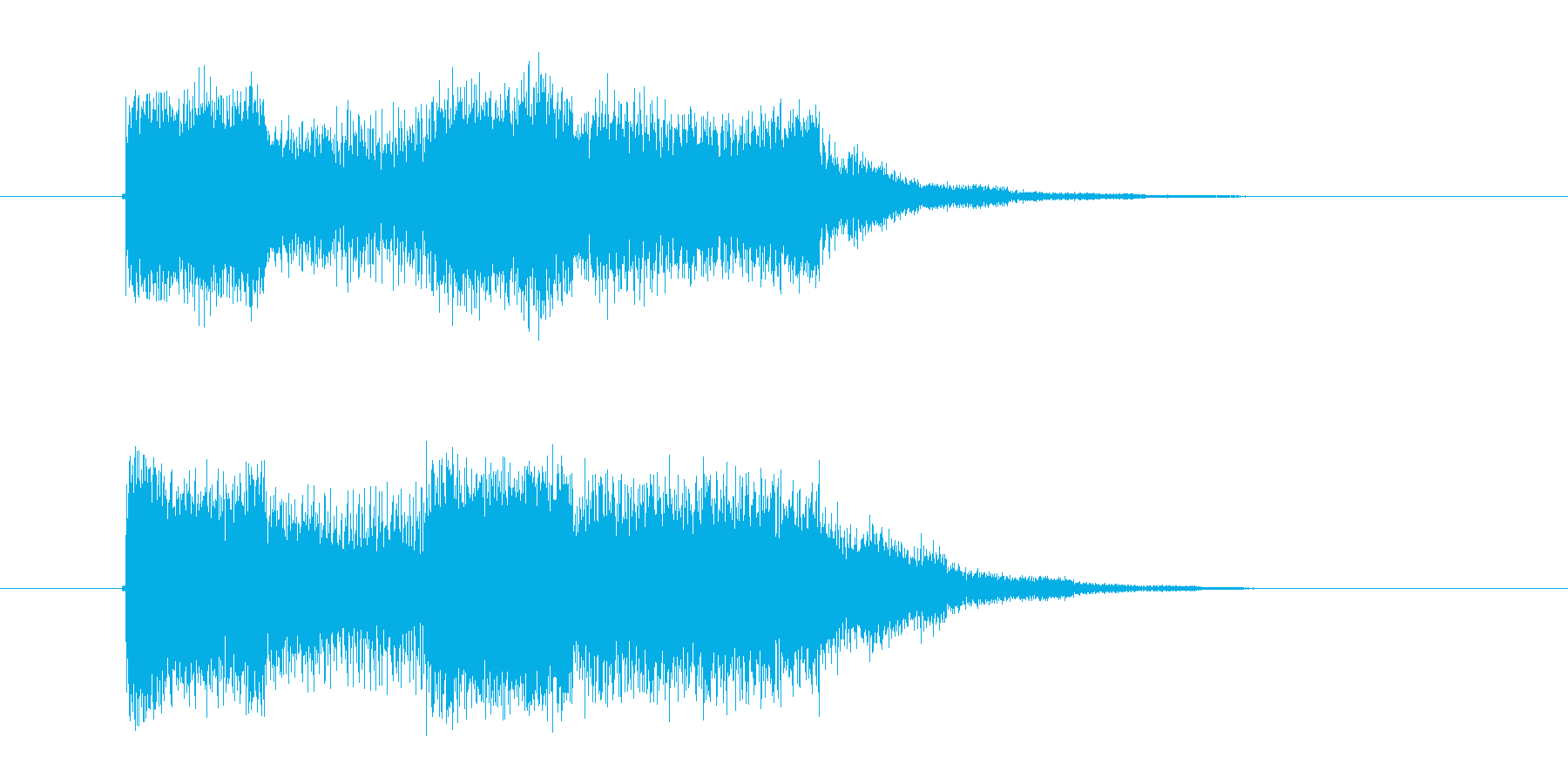 ピー!ウィーン!デジタルシンセのジングルの再生済みの波形