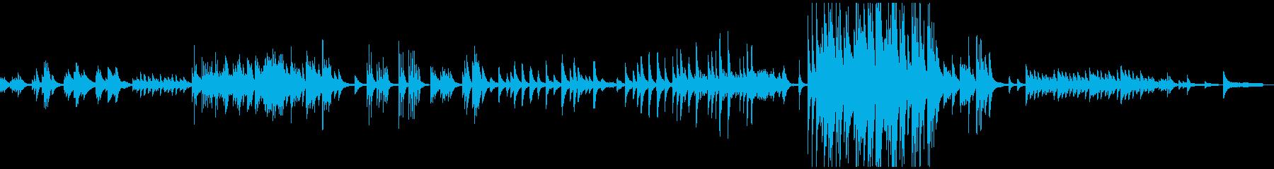 ピアノソロ/しんみりと暖かく優しい曲の再生済みの波形