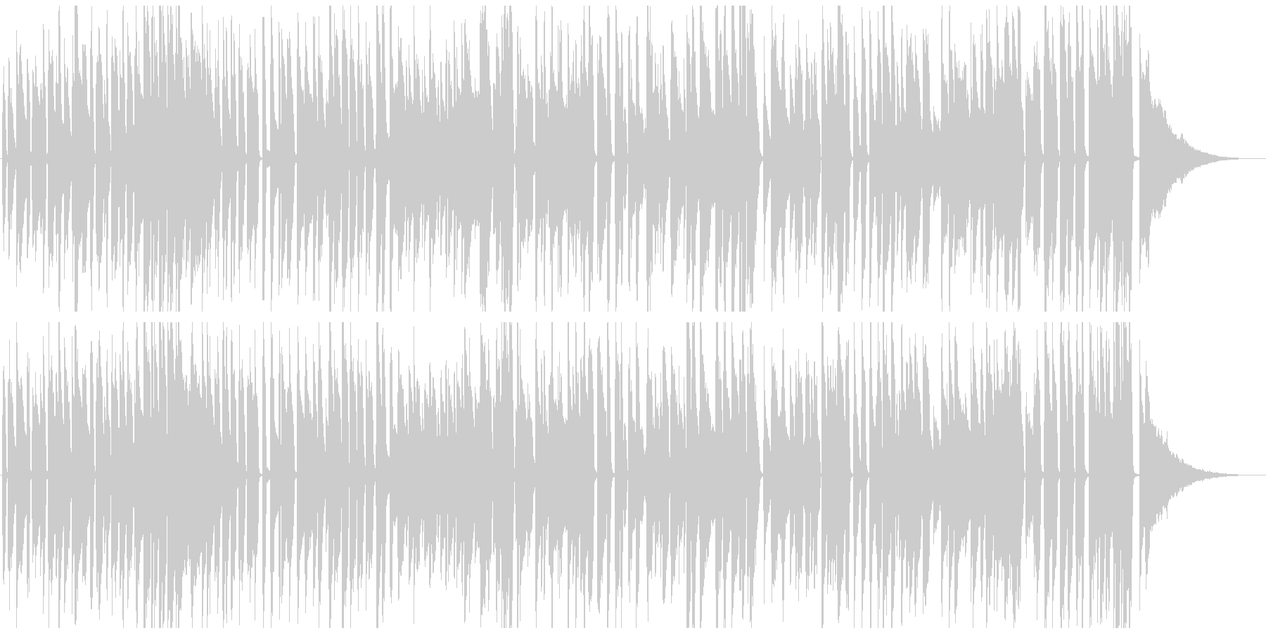 YouTube系ピアノジャズ 料理映像等の未再生の波形