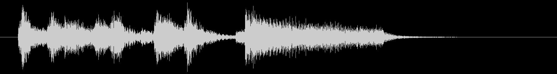 場面転換などにジャズジングル(5)の未再生の波形