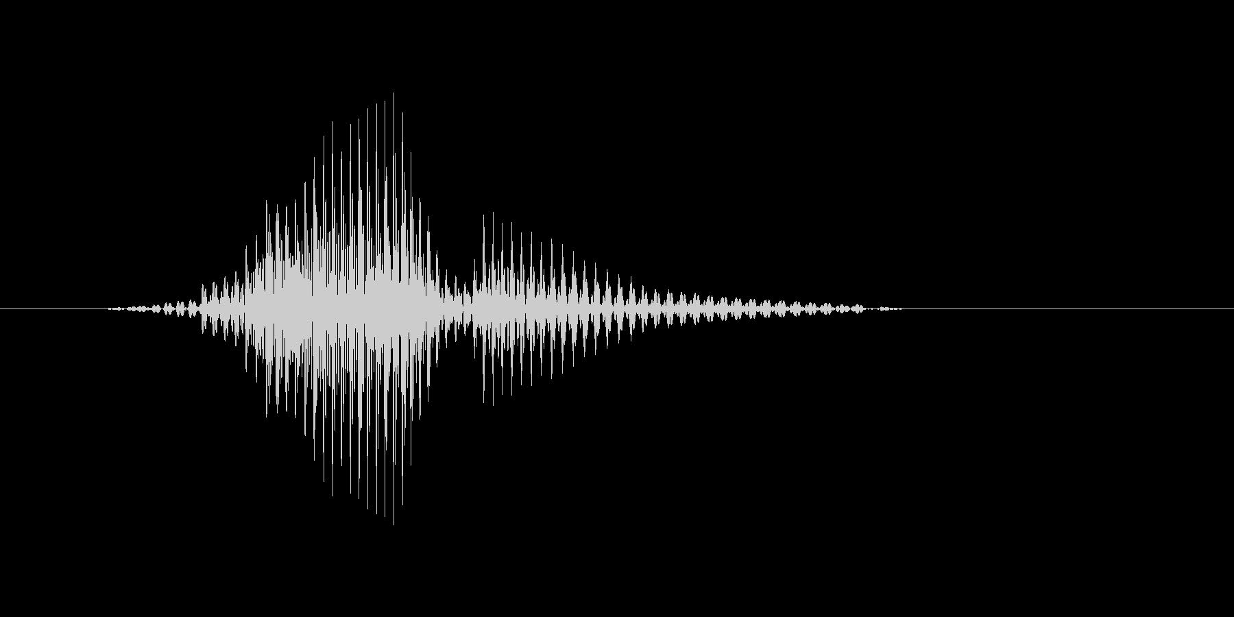 ラリーの未再生の波形