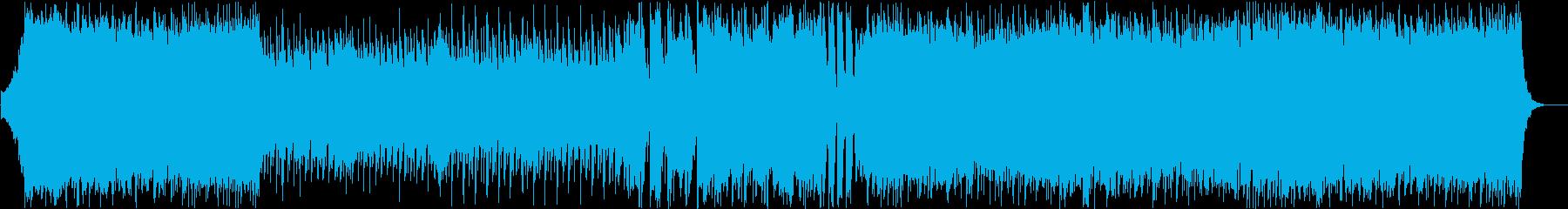 ストリングスとギターのバトルアニソン風曲の再生済みの波形