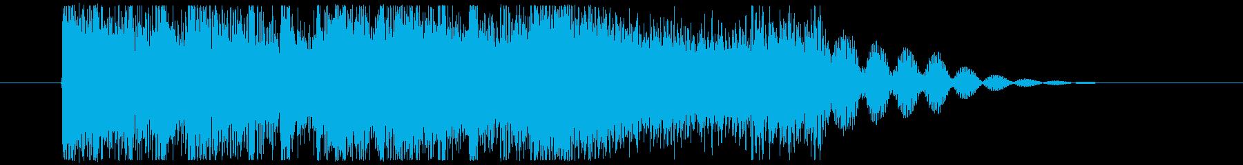 【場面転換】ロックギターフレーズの再生済みの波形