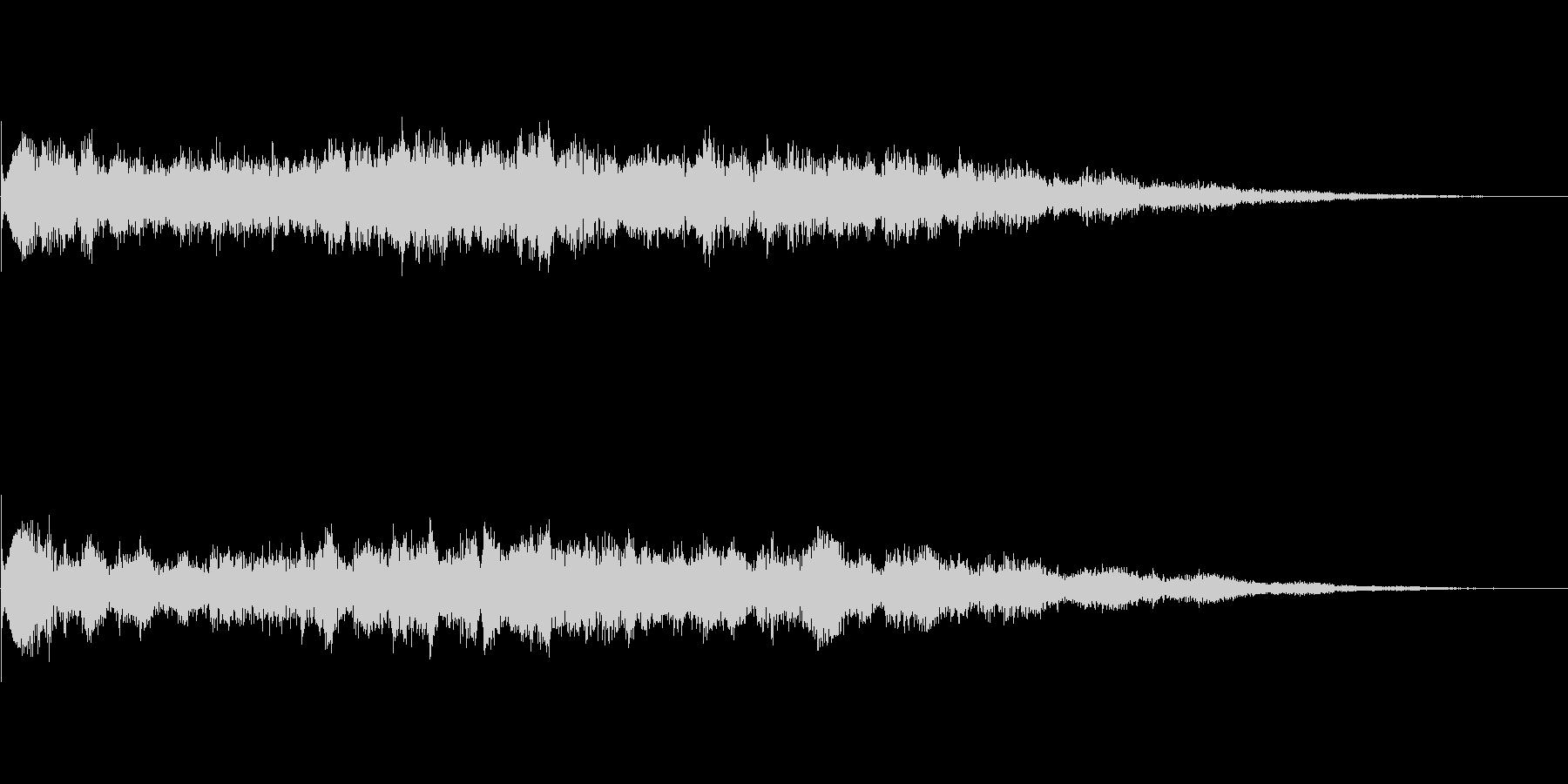 スペーシーなスタート音の未再生の波形