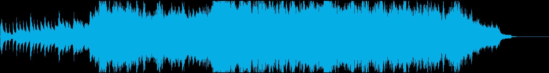 ピアノとオーケストラの感動的オープニングの再生済みの波形