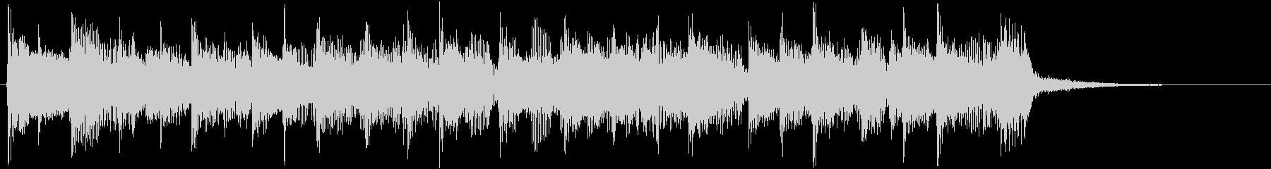 インパクトのあるロック調のジングルの未再生の波形