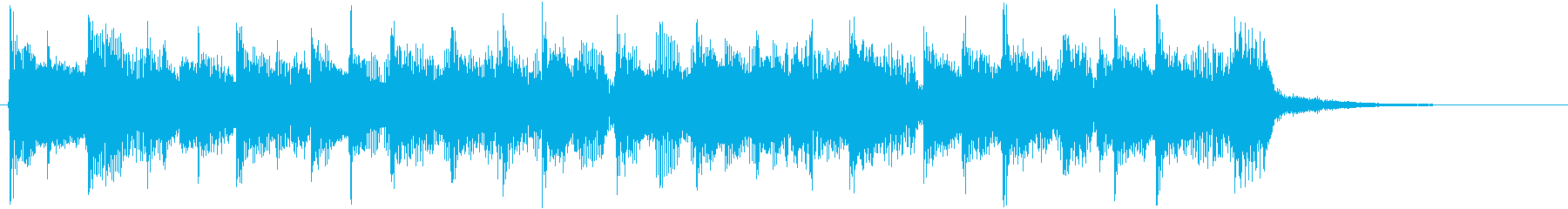 インパクトのあるロック調のジングルの再生済みの波形