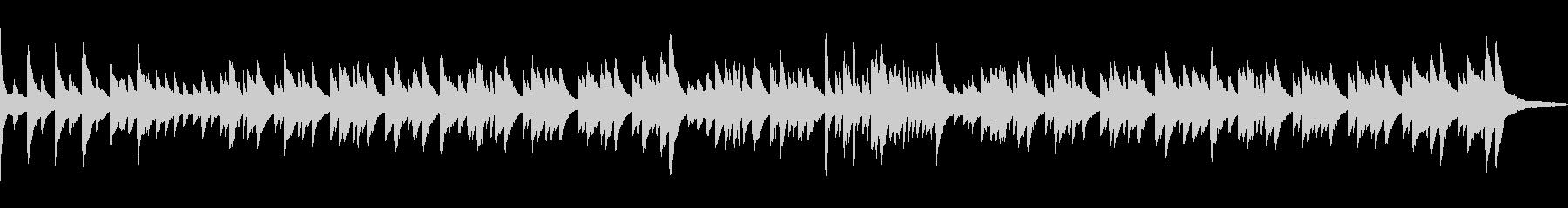 春の音連れをイメージしたピアノワルツの未再生の波形