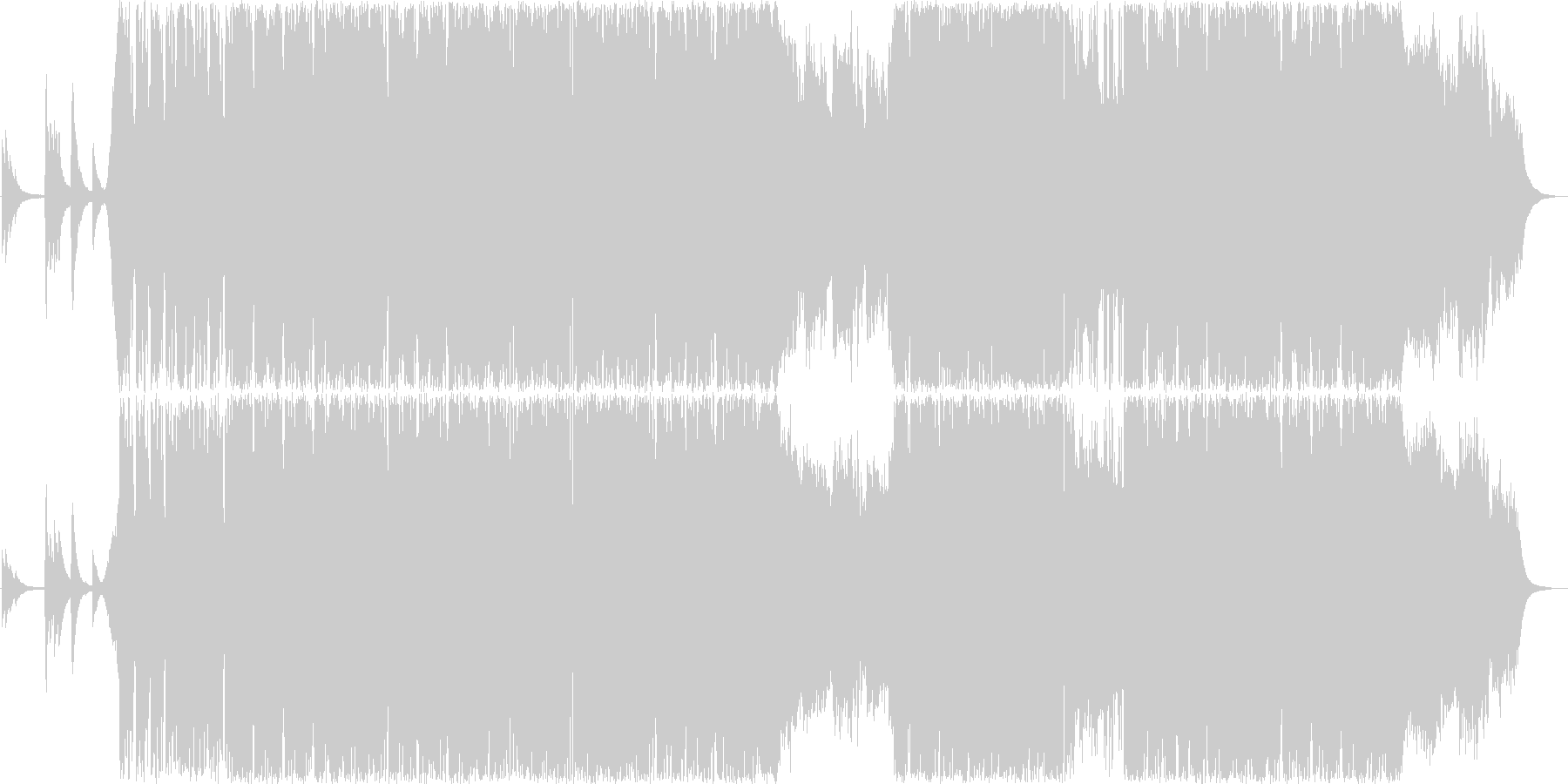 カッコイイギターインストゥルメンタルの未再生の波形