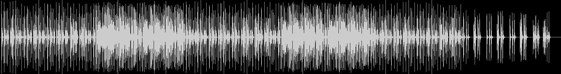 冬をイメージする音のハッピーな曲の未再生の波形