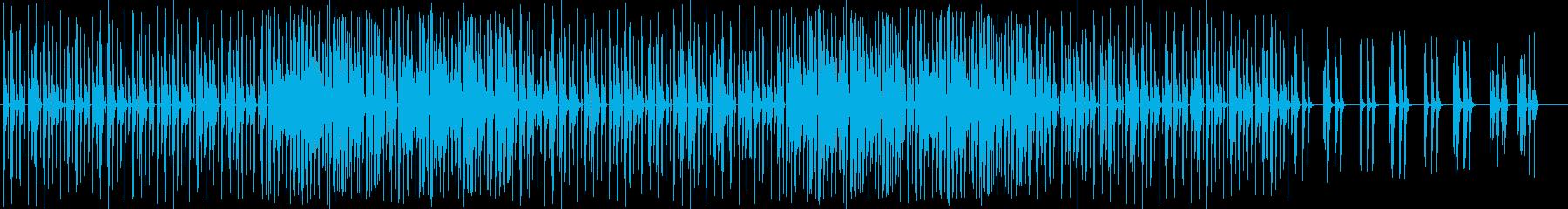 冬をイメージする音のハッピーな曲の再生済みの波形