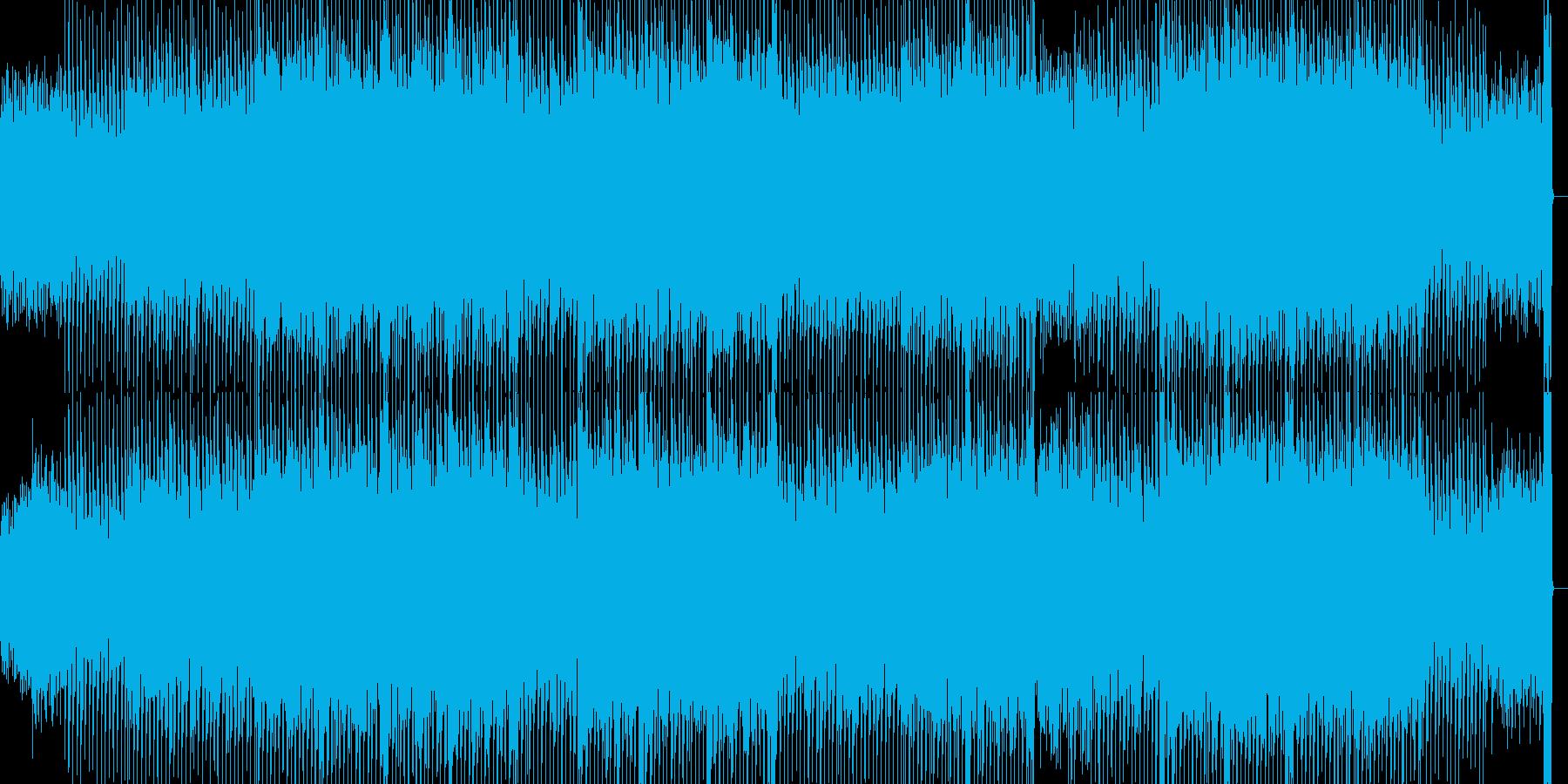 カッコいいテクノBGM曲の再生済みの波形