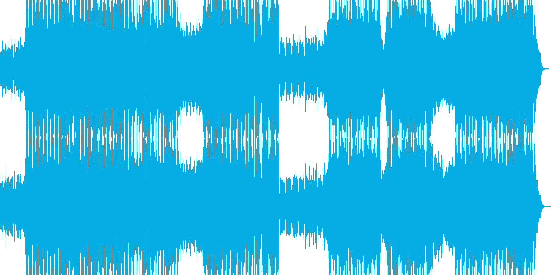 大空・疾走感溢れる爽やかなギターテクノの再生済みの波形