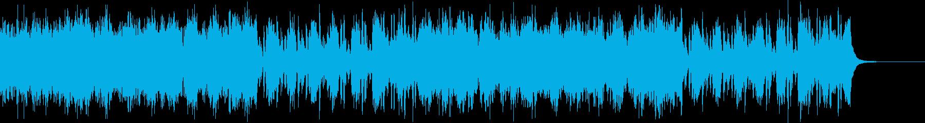 和太鼓+オケ=和風でかっこいい激しい戦闘の再生済みの波形