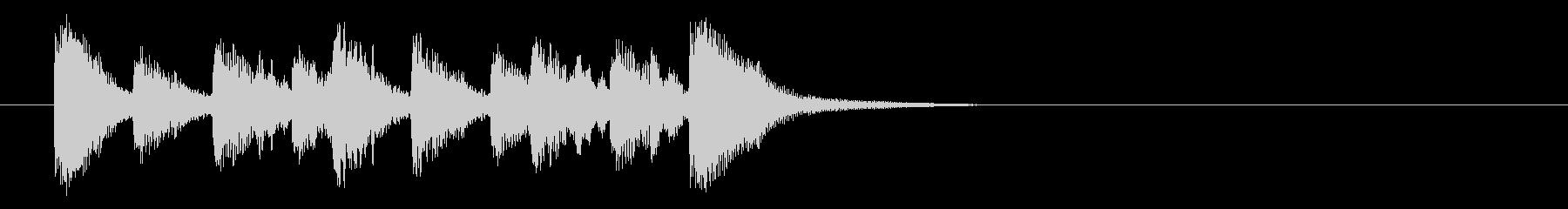 短い、アップテンポの音楽トラック(...の未再生の波形
